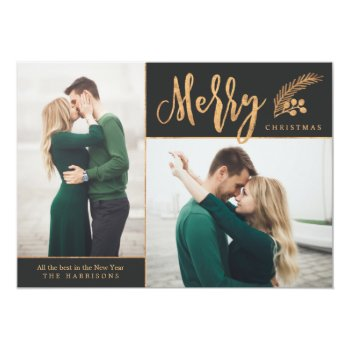 Blissful   Photo Holiday Card by Orabella at Zazzle