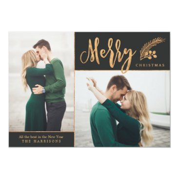Christmas Themed Blissful   Photo Holiday Card