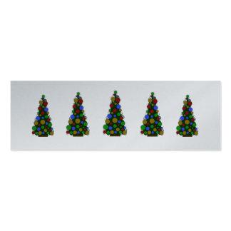 Blissfull Multi Color Greetings Christmas Tags Mini Business Card