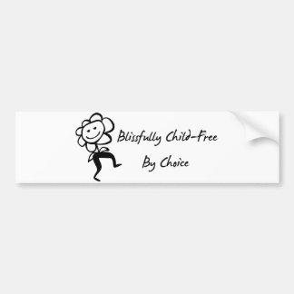 Blissfully Child-Free Car Bumper Sticker