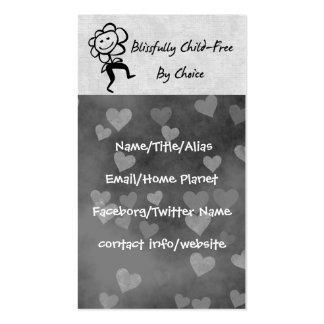Blissfully Child-Free Business Card