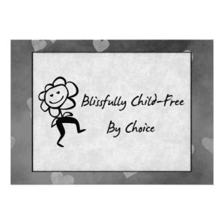 Blissfully Child-Free Personalized Invitations