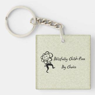 Blissfully Child-Free Keychain