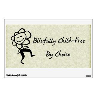 Blissfully Child-Free Wall Sticker