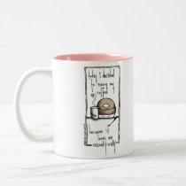 Blissfully Coffee Two-Tone Coffee Mug