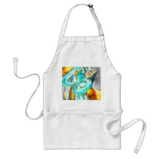 Blissfulness Pastel Abstract Adult Apron