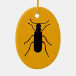 Blister Beetle Silhouette Christmas Tree Ornament