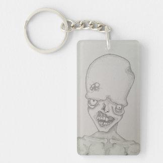 Blister Zombie Pendant Single-Sided Rectangular Acrylic Keychain