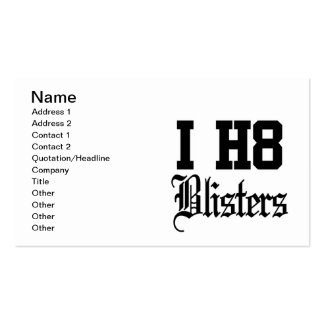 blisters Double-Sided standard business cards (Pack of 100)