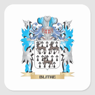 Blithe Coat of Arms Square Sticker