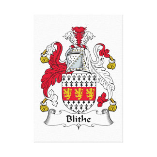 Blithe Family Crest Stretched Canvas Print