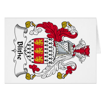 Blithe Family Crest Cards