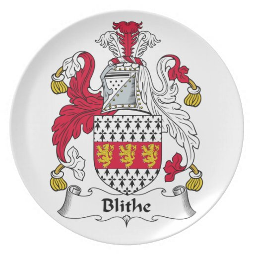 Blithe Family Crest Party Plates