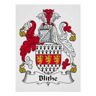 Blithe Family Crest Posters