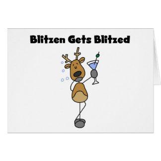 Blitzen Gets Blitzed Greeting Cards