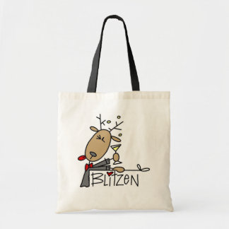 Blitzen Reindeer Christmas Tshirts and Gifts Bags