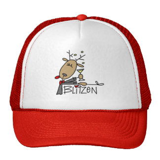 Blitzen Reindeer Christmas Tshirts and Gifts Trucker Hat
