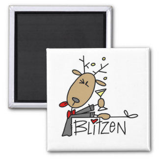 Blitzen Reindeer Christmas Tshirts and Gifts Magnet