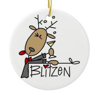 Blitzen the Reindeer Christmas Keepsake Ornament ornament