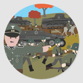 Blitzkrieg invasion of Poland 1939 Classic Round Sticker