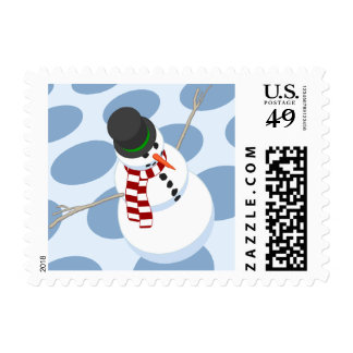 Bliz the Snowman Dotted Postage