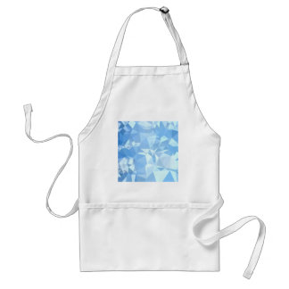 Blizzard Blue Abstract Low Polygon Background Adult Apron
