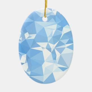 Blizzard Blue Abstract Low Polygon Background Ceramic Ornament