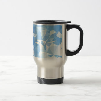 Blizzard Blue Abstract Low Polygon Background Travel Mug