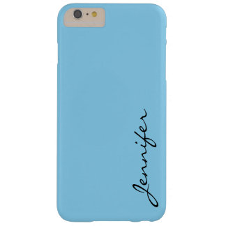 Blizzard Blue color background Barely There iPhone 6 Plus Case