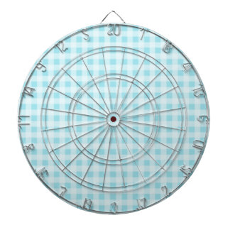 Blizzard Blue Gingham; Checkered Dart Board