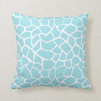 Blizzard Blue Giraffe Animal Print Pillows