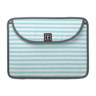 Blizzard Blue Stripes; Striped MacBook Pro Sleeve
