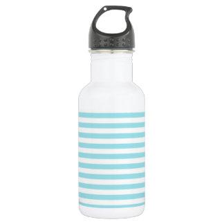 Blizzard Blue Stripes; Striped Water Bottle