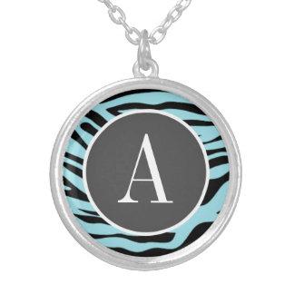Blizzard Blue Zebra Animal Print Custom Jewelry