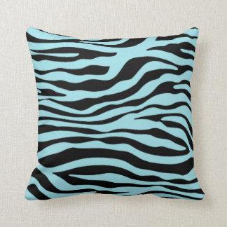 Blizzard Blue Zebra Animal Print Pillows
