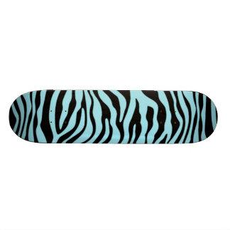 Blizzard Blue Zebra Animal Print Skateboard