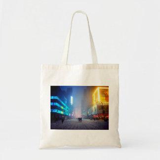 Blizzard In Times Square Tote Bag