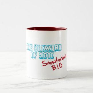 Blizzard of 2010 Snowtorious BIG Two-Tone Coffee Mug