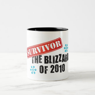 Blizzard of 2010 Survivor Two-Tone Coffee Mug