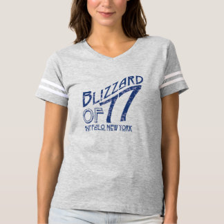 Blizzard of 77 Ladies Football Jersey T-shirt