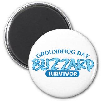 Blizzard Survivor 2 Inch Round Magnet