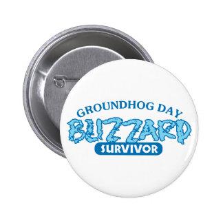 Blizzard Survivor Pinback Button