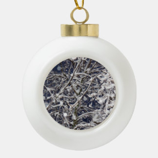 Blizzard Tree Ceramic Ball Christmas Ornament