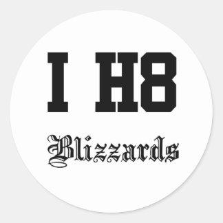 blizzards classic round sticker
