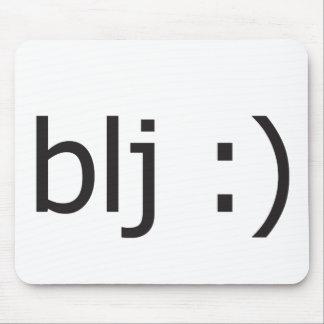 blj text message mouse pad
