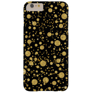 BLK-AJR-CARD-random-bubble-dots-glitter-BACK-G.jpg Barely There iPhone 6 Plus Case