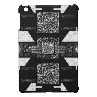 Blk&Wht Leopard Pattern Case For The iPad Mini
