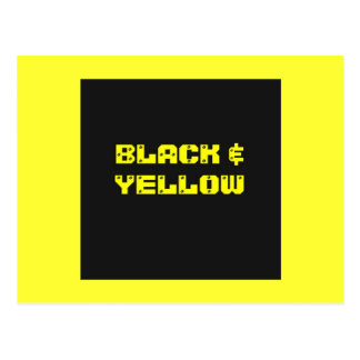 Bllack & Yellow Household Goods Postcard