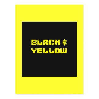 Bllack & Yellow Household Goods Postcard