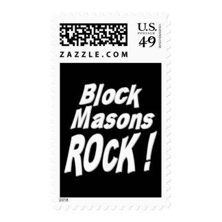 Bloack Masons Rock ! Stamp